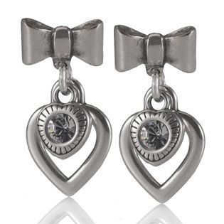 Katie Bow & Hearts Drop Earrings. Were 45.00, are now £22.50
